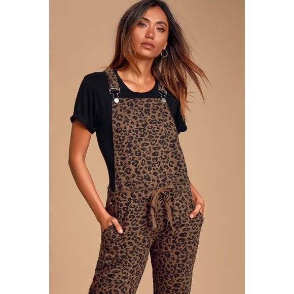 FIRM PRICE Z Supply Mureile Leopard Knit Overalls